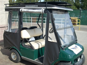 Campus cart with solar panel assist